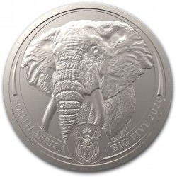 South Africa 1 oz platinum BIG FIVE 2020 ELEPHANT 20 Rand BU