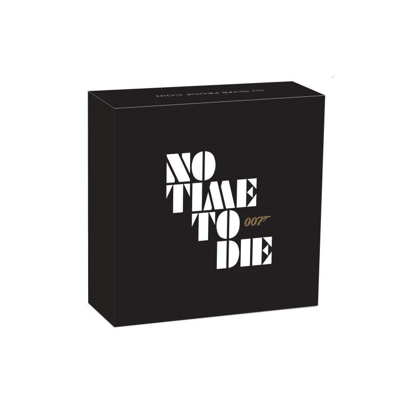 james bond no time to die 2020 1oz silver proof coin