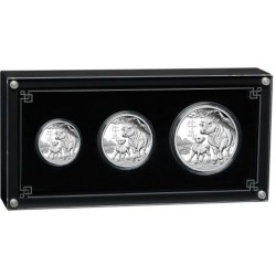 SILVER Australian Lunar Series III 2021 Year of the Ox 1/2 oz, 1 oz ,2 oz - 3 coin set PROOF $0.50 - $1 - $2