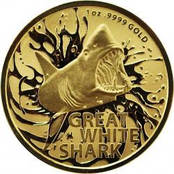 RAM MOST DANGEROUS 1 oz GOLD GREAT WHITE SHARK 2021 $100