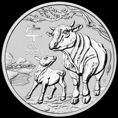 PM Lunar 3 Mouse 2 oz silver 2020 BU $2 Australia