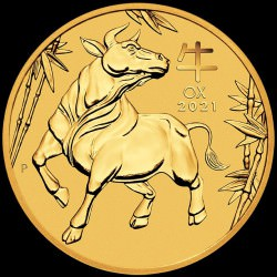 PM Lunar 3 OX 1/10 oz GOLD 2021 BU $10 Australia