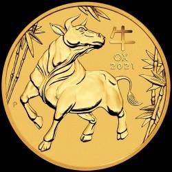 PM Lunar 3 OX 2 oz GOLD 2021 BU $200 Australia