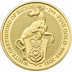 U.K. 1 oz gold QUEEN'S BEAST 2020 The WHITE HORSE OF HANOVER £100