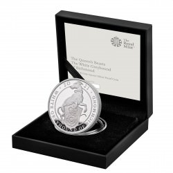 1 oz silver QUEEN'S BEAST 2021THE WHITE GREYHOUND OF RICHMOND £5 PROOF