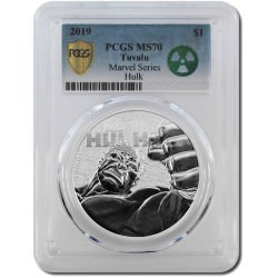 Perth Mint 1 oz silver 2019 MARVEL HULK $1 PCGS MS70