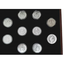 U.K. 2 oz silver QUEEN'S BEAST - COMPLETE SERIES in BOX £5