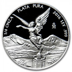 1/4 oz silver LIBERTAD 2016 PROOF