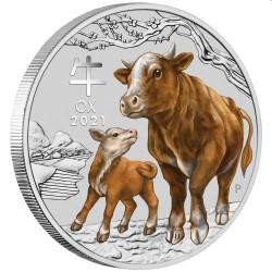 Sydney Money Expo Special 2021 Year of the Ox 1/4oz Silver Coloured Coin
