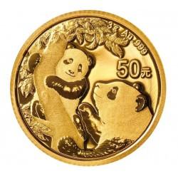 Gold CHINA PANDA 3 GR 2020 Yuan 50