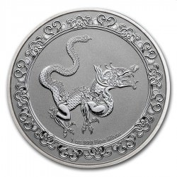 NIUE 1 oz silver Celestial GREEN DRAGON 2019 $2