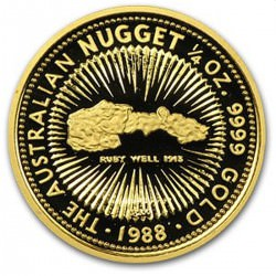 1/4 oz gold NUGGET 1988 RUBY WELL 1913
