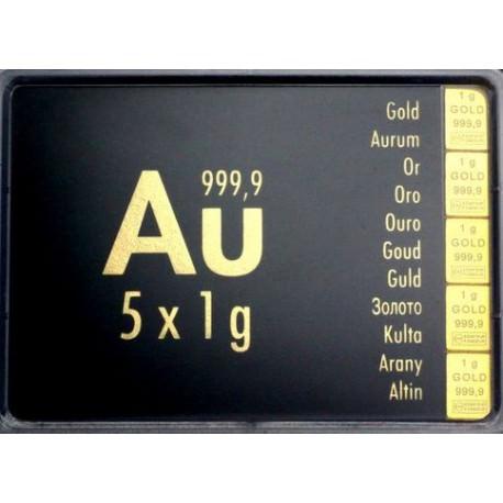 5 gr COMBIBAR GOLD - 5 x 1gr