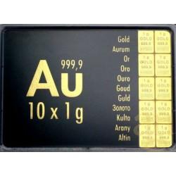 10 gr COMBIBAR GOLD - 10 x 1gr