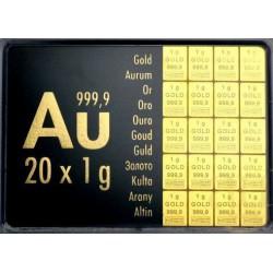 20 gr COMBIBAR GOLD - 20 x 1gr