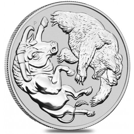 Perth Mint 1 kilo silver BEAR & BULL 2020 $100