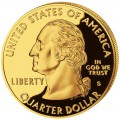 DONALD TRUMP $0.25 gilded