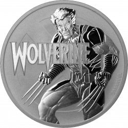Perth Mint 1 oz silver 2021 MARVEL WOLVERINE $1