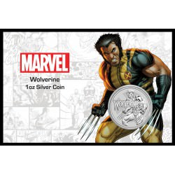 Perth Mint 1 oz silver 2021 MARVEL WOLVERINE $1 in card