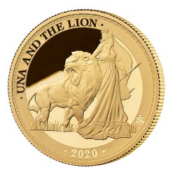 ST HELENA 1 oz GOLD UNA and the LION 2020 £5 PROOF
