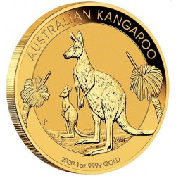 PM 1 oz GOLD NUGGET 2020 BU $100 Australia KANGAROO