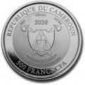 1 oz silver Cameroon MANDRILL 2020 CFA500