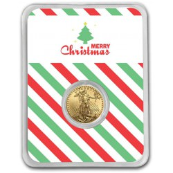1/10 oz GOLD EAGLE 2020 MERRY CHRISTMAS