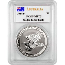 1 oz silver WEDGE TAILED EAGLE 2014 -P PCGS MS70