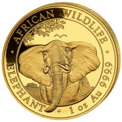 GOLD 1 oz ELEPHANT 2021 SOMALIA 1 000 shillings Privy Ox