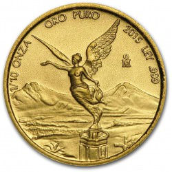 Mexico 1/10 oz gold LIBERTAD 2015 BU