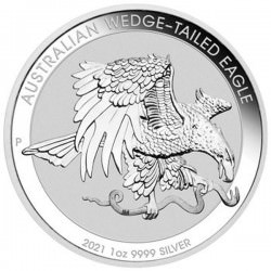 1 oz silver Perth Mint $1 WEDGE-TAILED EAGLE 2021 $1