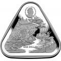 RAM 1 oz silver TRIANGULAR coin ZEEWIJK 2021 $1