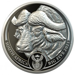 South Africa 1 oz platinum BIG FIVE 2021 BUFFALO PROOF Box + Coa 20 Rand