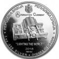 1 oz silver NIKOLA TESLA 2018 gilded