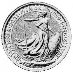 UK 1/4 oz silver BRITANNIA 2021 P50 BU