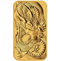 Perth Mint 1 oz RECTANGLE DRAGON $100 BAR 2021 GOLD