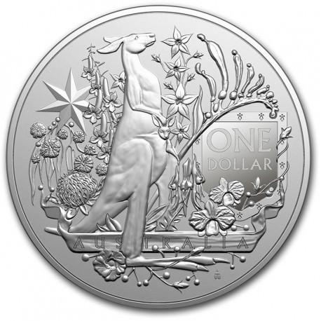 RAM 1 oz silver COAT OF ARMS AUSTRALIA 2021 $1