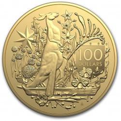 RAM 1 oz GOLD COAT OF ARMS AUSTRALIA 2021 $100
