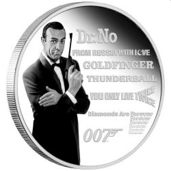 Perth Mint James Bond Legacy Series – 1st Issue 2021 1oz Silver Proof Coloured Coin