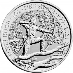 1 oz silver MYTHS & LEGENDS 2021 £1 ROBIN HOOD