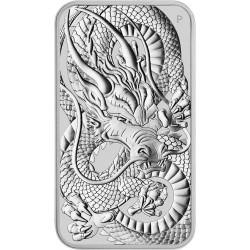 Perth Mint 1 oz silver RECTANGLE DRAGON $1 BAR 2021