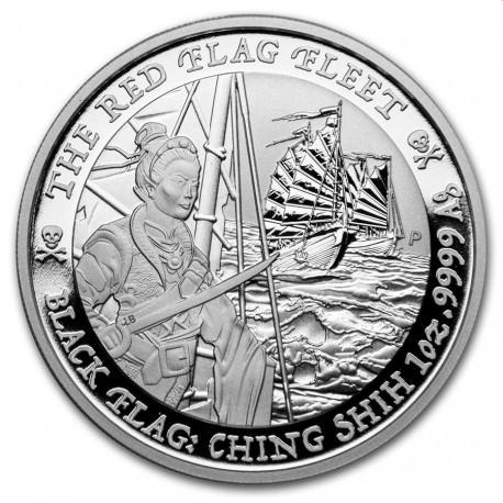 1 oz silver Black Flag 2021 The Red Flag Fleet $1