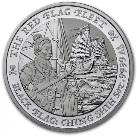 PM Tuvalu 5 oz silver BLACK FLAG 2020 The Royal Fortune $5