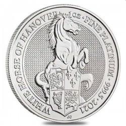 1 oz PLATINIUM PLATINUM QUEEN'S BEAST £100 WHITE HORSE 2021