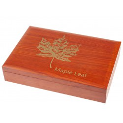 1 KILO silver coin WOODEN HQ DISPLAY CASE - present box
