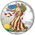 1 oz silver U.S. Silver EAGLE 2021 COLOURED $1