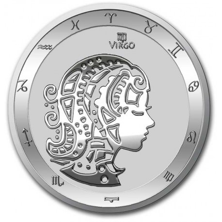 Tokelau 1 oz silver ZODIAC SERIES 2021 VIRGO $5 BU