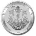 Tokelau 1 oz silver ZODIAC SERIES 2021 PISCES $5 BU