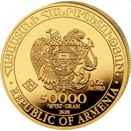 Armenia 1 oz gold NOAH's ARK 2021 Dram 50000