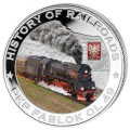 LIBERIA Complete series 22 silver coins 2011 $5 HISTORY OF RAILROAD